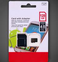 ingrosso uh i transflash-Scheda Micro SD da 128 GB Scheda MicroSDXC UHS-I con adattatore Scheda TF Classe 10 da 128 GB Ideale per telefoni Android Altri tablet Smartphone