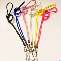 Wholesale Camera Usb Lanyards - colorful slim Braided PU Leather Necklace LANYARDs Keychain for key, ID holder, Cell phone, USB, or Camera