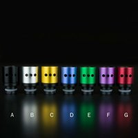 Wholesale Dct Hole - Three Hole Design 510 Adjustable air flow Wide Bore Drip Tips Aluminum Drip Tip for DCT RDA RBA E Cig mechanical mod Vaporizer Atomizer
