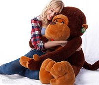 Wholesale Giant Stuffed Plush Valentines Day - 80CM stuffed monkey toy plush monkey Giant monkey stuffed animal Valentine gift for Girls Free shipping
