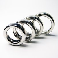 Wholesale Chastity Metal Ball - Stainless Steel Cock Rings Metal Cockring for Men Ball Stretcher BDSM Toys Penis Ring Male Chastity Device Scrotal Bondage Ball Weights