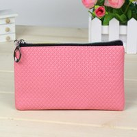 Wholesale Coin Purses Sale - Cheap Wholesale Weman Wallet Hot Sale Candy Color PU Leather Coin Bag Phone Package Coin Purses 11 Colors Free Shipping