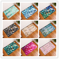 Wholesale beautiful bathrooms - Water Uptake Footcloth Many Styles Beautiful 3D Sequins Printing Bath Mat Non Slip Bathroom Living Room Doormats 9 8xre C