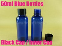 Wholesale Comestic Bottles Wholesales - 50ml screw cap Blue bottle comestic bottle make up container small empty bottles free shipping wholesale #2067