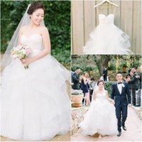 Wholesale China Gowns Online - 2015 Sweetheart White Puffy Dresses for Wedding Online Ball Gown Bridal Gowns Floor Length Zipper Back Custom Made In China robe de mariage