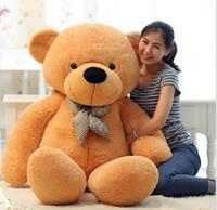 """Wholesale Teddy Bear 72 - New arrival 6.3 FEET TEDDY BEAR STUFFED LIGHT BROWN GIANT JUMBO 72"""" 160cm birthday gift brown 5 colour choose"""