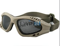 Wholesale Metal Mesh Goggles - Outdoor Protective Goggles Shooting Tactical Airsoft Hunting Anti Fog Metal Mesh Goggles New and Hot Selling 200pcs