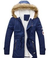 Wholesale Long Parka Mens Jacket - Mens Warm Parka Fur Collar Hooded Winter Thick Duck Down Coat Outwear Down Jacket Comfortabel And Warm Hot Sell Man Coat Fashion Coat For Ma