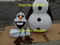 Wholesale Smiling Adult New Olaf Mascot Costume Snowman Clothing Christmas Party Suit