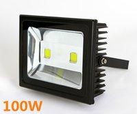 luz de inundación ip67 al por mayor-Alta brillante 100W LED luz de inundación IP67 impermeable AC85-265V COB luces de inundación del paisaje de la lámpara al aire libre de la pared luces Envío libre.