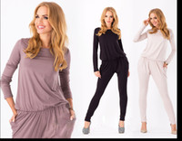 Wholesale Womens Suit Ruffles - Womens pants suits ladies fashion fitted slim stretch long sleeve pants ruffles jumpsuit Formal Prom Cocktail Evening trousers 3608