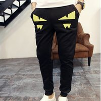Wholesale Hiphop Jogging Pants - Skinny Elastic Cuff Emoji Joggers Men Sport Trousers Slim Fit Track Pencil Pants Men HipHop Clothes Black Pantalon Jogging Homme