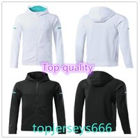 Wholesale Full Hoodies - New Style Real Madrid Soccer Hoodies 17 18 Top quality white black ASENSIO RONALDO RAMOS KROOS BENZEMA ISIO soccer jacket Training tracksuit