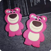 Wholesale Lg Pro Lite Silicone Case - 3D Cartoon Strawberry Bear Soft Silicone Rubber Case For iPhone 5 6 6S Plus MOTO G G2 G3 LG G Pro Lite D680 G3 Stylus Samsung Galaxy G530 J1