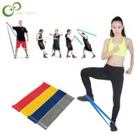 Wholesale resistance bands free shipping resale online - 4 Set New Hot Multi Colored Pilates Yoga Crossfit Latex Fitness Resistance Bands Workout Exercise Band