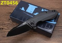 Wholesale Ford Knives - Zero tolerance rex ford ZT0456 ZT0801BRZ D2 blade TC4 titanium handle,lucky wheel camping hunting outdoors survival knife EDC tool