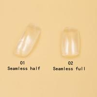 Wholesale Clear Fake Nails Full Cover - Fake Nails Half Nail Art False Acrylic Fake Nail Tips 2 bags (500 pcs bag) Seamless Clear Full&Half Cover Nail G4
