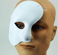 Maschera per il viso di Phantom Opera Halloween Costume da festa del partito di Natale di New Year Costume Dress Up - Most Adults White Phantom Mask
