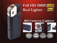 Wholesale Lighter Mini Dv - HD 1080P Mini lighter camera with flashlight mini lighter camera U Disk portable pinhole camcorder real lighter mini DV DVR black V18
