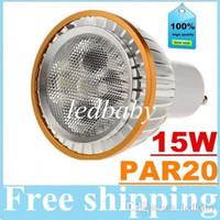 Wholesale 5x3w 15w spotlight bulb for sale - Group buy Dimmable E27 E26 PAR20 Led Bulbs Light W X3W GU10 Led Downlights CREE Lamp Warm Natrual Cold White lm AC V