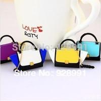 Wholesale Designer S4 - Wholesale-Fashion Brand Designer Handbag Dust Silicon Bags Jack Plug Mobile Pendant Cell Phone Accessories For Samsung galaxy s4 iphone 4s