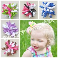 Wholesale Toddler Hair Ties - 200pcs Side Clip Cute Princess Barrettes Bowknot Children Girls Hair bows Clips Headwear Baby Hair Accessories Toddler korker hair ties