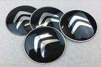 56mm 65mm Citroen Logo Car Silver Wheel Hub Center Caps Emblem Styling Etiqueta de roda automática para Citroen C2 C4L C5
