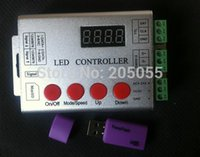 Wholesale Dmx Sd Card - Wholesale-wireless SD card pixel programable LED Full color digital controller 5-24V for WS2811 ws2801 LPD8806 WS2812 DMX led strip