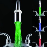 venta luces de cocina al por mayor-Múltiples luces de color LED Faucet Led Faucet Light Temperatura Sensor Water Glow baño cocina para la venta LD8001-A1
