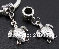 ingrosso tibetan turtle charm-Vintage 200pcs argento tibetano Sea Turtle Pendenti di fascini per la collana del braccialetto Monili di modo che fanno DIY Accessori B238Girls Bijoux