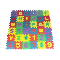 Wholesale Eva Alphabet Puzzle Mats - Hot Sales 36Pc Set Foam Floor Climb Mats Learning Toys Alphanumeric Cartoon Crawling Puzzle EVA C390 Free Shipping