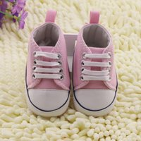 Wholesale Toddler White Canvas Shoes Wholesale - Hot sales White Pink Blue Red pentagram pattern toddler shoes 0-24 months baby wear cheap kid shoes 3pairs=6pcs lot