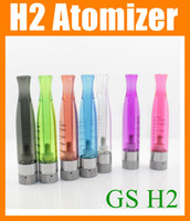 Wholesale Dct Replaceable Atomizer - New GS-H2 Clearomizer atomizer E-Cigarette GS H2 Atomizer Replace CE4 ce5 ce6 dct Cartomizer all For eGo 510 batter series 7 colors AT019