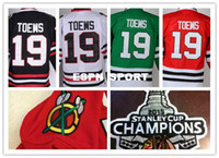Wholesale w ice - Factory Outlet, Mens Stitched #19 Jonathan Toews Chicago Blackhawks Jersey W 2015 Stanley Cup Champion Patch Ice Hockey Jersey