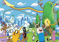 Wholesale Cheapest Notebooks - Wholesale-Adventure Time mouse pad razer cheapest game pad to mouse notebook computer mouse mat brand gaming mousepad gamer laptop