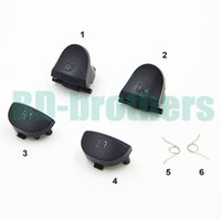 Wholesale ps4 trigger springs for sale - Group buy Black L1 R1 L2 R2 Key Trigger Replacement Parts Button Buttons with Spring For PlayStation PS4 Controller sets