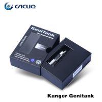 Wholesale Ecigarette Free Dhl - Authentic KangerTech Genitank Vaporizers Kit ecig Kanger Dual Coils 2.4ml Tanks Atomizers ecigarette Clearomizer DHL Free