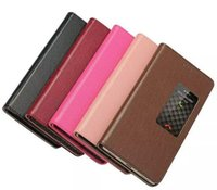 Wholesale Huawei Ascend Flip Case - Window Genuine For Huawei P8 Case Cute Flip Back Cover Luxury Colorful Ultra-Thin Original Leather Case For Huawei Ascend P8