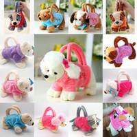 beste neue hundespielzeug großhandel-Cartoon Plüsch Hunde für Kinder Münzhalter 3D Pudel Spielzeug Schnauzer Spielzeug für Kinder Mädchen Beste Neujahrsgeschenke