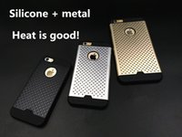 Wholesale Matte Silver Paint - For Iphone 6plus Honeycomb Combo Light Armor Protect Aviation Aluminum Shell Little Point New Matte Metallic Spray Paint MOQ:50PC Dhl Free