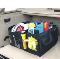 Wholesale Multipurpose Storage Box - Free Shipping Oxford cloth Car Trunk Tidy Storage Box Auto Boot Storage Organizer Folding Bag Multipurpose Tools Organiser