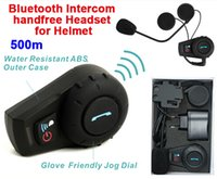 Wholesale-500 metros de impermeable casco de la motocicleta Intercom Auricular Bluetooth Intercom Casco de deportes Juegos de FDC-01