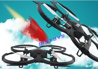 Wholesale Quadrocopter Free Shipping - Wholesale-Quadrocopter udi U818A 34cm 4CH 2.4G RC UFO Helicopter Six axis GYRO 3D roll Free shipping