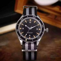 Wholesale bond movies - High Quality Automatic Luxury Mens Stainless Watch Lowest Price Swiss James Bond 007 Movie Fabric Mens Mechanical Wristwatch Sale Box Papers