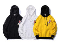 Wholesale Embroidery Velvet Coat - 6new vlone quality new tide brand cham kanye hip hop supp plus velvet embroidery letters hooded sweater couple coat yeezus aape plays