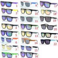 Wholesale Ken Block Plastic - 50pcs lot OPTIC KEN BLOCK HELM Sports Sunglasses With Original Packs Brand Outdoor Sun glasses COLORFUL LENS men Specs