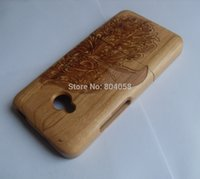Wholesale Cover One M7 - Brand New Genuine Real Natural Bamboo Wood Wooden Hard Case Cover For HTC One M7 Hawk Design!