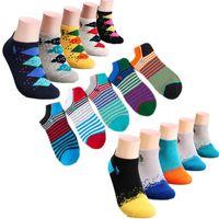 melhores meias de verão para mulheres venda por atacado-Homens e mulher polo meias de verão casuais respirável esportes malha meias curtas do barco para o sexo feminino Best Seller puro algodão primavera polo listra meias