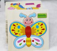 ingrosso costruire la casa di carta-Modelli bambino Puzzle Giocattoli educativi Blocchi di costruzione in legno Giocattolo di legno Animali del mestiere di puzzle Vendita calda colorato
