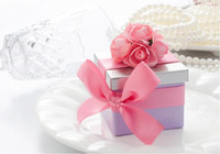 Wholesale Lovely Sweet Wedding Gift Box - 30Pcs Lot Pink Color Elegant Sweet Lovely Tin Candy Gift Box as Wedding Candy Boxes 2015 May Style